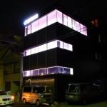 三親住設様 本社ライトアップ 2