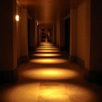 08ホテル棟パブリック(夜)